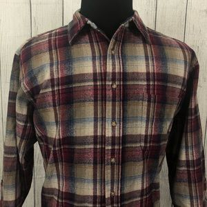 Pendleton XL Multicolor Plaid Wool Flannel Shirt
